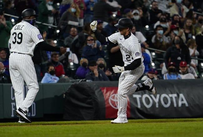 Philadelphia Phillies at Colorado Rockies - 4/25/21 MLB Picks and Prediction