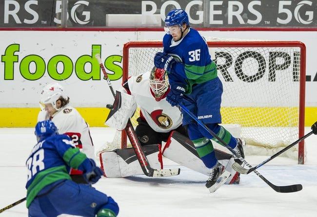 Ottawa Senators vs Vancouver Canucks NHL Picks, Odds, Predictions 4/26/21