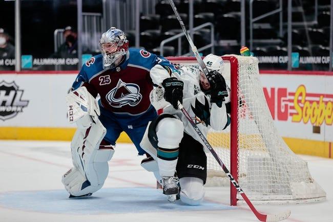 Colorado Avalanche vs San Jose Sharks NHL Picks, Odds, Predictions 5/1/21