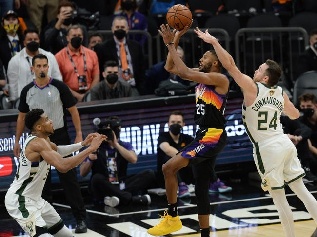Phoenix Suns at Milwaukee Bucks - 7/11/21 NBA Picks and Prediction