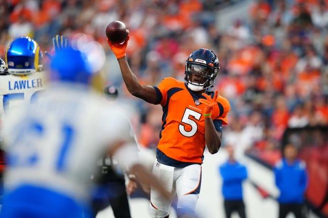 Denver Broncos at New York Giants - 9/12/21 NFL Picks and Prediction