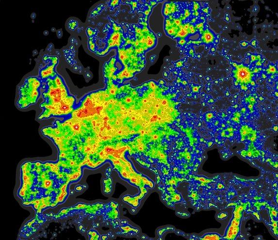 Maps Best Place To Stargaze Brightest Cites Darkest Nights - Darkest-places-in-the-us-map