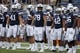 Aug 26, 2017; Provo, UT, USA; Brigham Young Cougars is ready to take the field prior to their game against the Portland State Vikings at LaVell Edwards Stadium. Mandatory Credit: Jeff Swinger-USA TODAY Sports