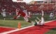 Aug 31, 2017; Salt Lake City, UT, USA; Utah Utes wide receiver Troy McCormick Jr. (4) dives across the end zone past North Dakota Fighting Hawks defensive back Tanner Palmborg (21) to have the touchdown called back on a penalty at Rice-Eccles Stadium. Mandatory Credit: Jeff Swinger-USA TODAY Sports