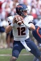 Sep 2, 2017; Norman, OK, USA; UTEP Miners quarterback Ryan Metz (12) looks to pass the ball against the Oklahoma Sooners during the first quarter at Gaylord Family - Oklahoma Memorial Stadium. Mandatory Credit: Mark D. Smith-USA TODAY Sports