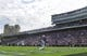 Sep 2, 2017; Evanston, IL, USA; Northwestern Wildcats wide receiver Macan Wilson (15) scores a touchdown while Nevada Wolf Pack defensive back Vosean Crumbie (1) attempts to make a tackle during the first quarter at Ryan Field. Mandatory Credit: Caylor Arnold-USA TODAY Spor