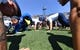 Sep 2, 2017; Colorado Springs, CO, USA; Air Force Falcons cadets do pushups following a touchdown carry by running back Tim McVey (33) (not pictured) in the first quarter against the Virginia Military Keydets at Falcon Stadium. Mandatory Credit: Ron Chenoy-USA TODAY Sports
