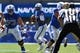 Sep 2, 2017; Colorado Springs, CO, USA; Air Force Falcons quarterback Arion Northman (2) prepares to pass the ball for a touchdown in the first quarter against the Virginia Military Keydets at Falcon Stadium. Mandatory Credit: Ron Chenoy-USA TODAY Sports