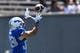 Sep 2, 2017; Colorado Springs, CO, USA; Air Force Falcons running back Tim McVey (33) prepares to pull in a reception in the first quarter against the Virginia Military Keydets at Falcon Stadium. Mandatory Credit: Ron Chenoy-USA TODAY Sports