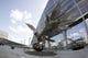 Sep 2, 2017; Atlanta, GA, USA; A general view of the Falcons statue outside Mercedes-Benz Stadium prior to the 2017 Kickoff Game between Alabama Crimson Tide and the Florida State Seminoles. Mandatory Credit: Brett Davis-USA TODAY Sports