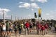 Sep 2, 2017; Waco, TX, USA; A general view of fans walking across the bridge to McLane Stadium before the game between the Baylor Bears and the Liberty Flames. Mandatory Credit: Jerome Miron-USA TODAY Sports