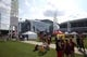 Sep 2, 2017; Atlanta, GA, USA; A general view of the plaza outside Mercedes-Benz Stadium prior to the 2017 Kickoff Game between the Alabama Crimson Tide and the Florida State Seminoles. Mandatory Credit: Jason Getz-USA TODAY Sports