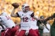 Sep 2, 2017; Waco, TX, USA; Liberty Flames quarterback Stephen Calvert (12) passes against the Baylor Bears during the first quarter at McLane Stadium. Mandatory Credit: Jerome Miron-USA TODAY Sports
