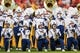 Sep 3, 2017; Landover, MD, USA; The West Virginia Mountaineers band plays before the game against the Virginia Tech Hokies at FedEx Field. Mandatory Credit: Ben Queen-USA TODAY Sports