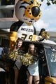 Sep 9, 2017; Columbia, MO, USA; The Missouri Tigers mascot Waltz and cheerleaders ride into the stadium during the traditional Tiger Walk before the game against the South Carolina Gamecocks at Faurot Field. Mandatory Credit: Denny Medley-USA TODAY Sports