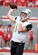 Sep 9, 2017; Raleigh, NC, USA; Marshall Thundering Herd quarterback Chase Litton (14) throws the ball during the first half against the North Carolina State Wolfpack at Carter-Finley Stadium. Mandatory Credit: Rob Kinnan-USA TODAY Sports
