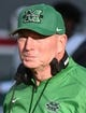 Sep 9, 2017; Raleigh, NC, USA; Marshall Thundering Herd head coach Doc Holliday during the first half against the North Carolina State Wolfpack at Carter-Finley Stadium. Mandatory Credit: Rob Kinnan-USA TODAY Sports