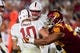 Sep 9, 2017; Los Angeles, CA, USA; USC Trojans defensive tackle Josh Fatu (98) sacks Stanford Cardinal quarterback Keller Chryst (10) during a NCAA football game at Los Angeles Memorial Coliseum. Mandatory Credit: Kirby Lee-USA TODAY Sports
