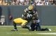 Sep 10, 2017; Green Bay, WI, USA; Seattle Seahawks linebacker Bobby Wagner (54) breaks up the pass intended for Green Bay Packers tight end Martellus Bennett (80) during the first quarter at Lambeau Field. Mandatory Credit: Jeff Hanisch-USA TODAY Sports