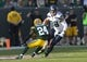 Sep 10, 2017; Green Bay, WI, USA; Seattle Seahawks tight end Jimmy Graham (88) runs with the football after catching pass as Green Bay Packers cornerback Quinten Rollins (24) defends during the second quarter at Lambeau Field. Mandatory Credit: Jeff Hanisch-USA TODAY Sports