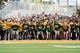 Sep 2, 2017; Waco, TX, USA; The Baylor Bears fans prepare to run on to the field before the game between the Baylor Bears and the Liberty Flames at McLane Stadium. The Flames defeat the Bears 48-45. Mandatory Credit: Jerome Miron-USA TODAY Sports
