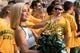 Sep 2, 2017; Waco, TX, USA; The Baylor Bears cheerleaders and fans cheer for their team during the game against the Liberty Flames at McLane Stadium. The Flames defeat the Bears 48-45. Mandatory Credit: Jerome Miron-USA TODAY Sports