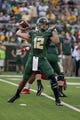 Sep 2, 2017; Waco, TX, USA; Baylor Bears quarterback Anu Solomon (12) in action during the game against the Liberty Flames at McLane Stadium. The Flames defeat the Bears 48-45. Mandatory Credit: Jerome Miron-USA TODAY Sports