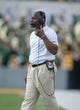 Sep 2, 2017; Waco, TX, USA; Liberty Flames head coach Turner Gill during the game against the Baylor Bears at McLane Stadium. The Flames defeat the Bears 48-45. Mandatory Credit: Jerome Miron-USA TODAY Sports