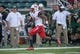 Sep 2, 2017; Waco, TX, USA; Liberty Flames wide receiver Damian King (7) in action during the game against the Baylor Bears at McLane Stadium. The Flames defeat the Bears 48-45. Mandatory Credit: Jerome Miron-USA TODAY Sports