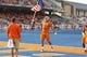 Sep 14, 2017; Boise, ID, USA; Boise State Broncos tight end Alec Dhaenens (87) carries the American Flag as the Broncos take the field  prior to the game versus the New Mexcio Lobos at Albertsons Stadium. Mandatory Credit: Brian Losness-USA TODAY Sports