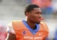 Sep 14, 2017; Boise, ID, USA; Boise State Broncos quarterback Montell Cozart (3) prior to the game versus the New Mexcio Lobos at Albertsons Stadium. Mandatory Credit: Brian Losness-USA TODAY Sports
