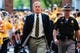 Sep 16, 2017; Iowa City, IA, USA; Iowa Hawkeyes head coach Kirk Ferentz arrives before the game between the Iowa Hawkeyes and the North Texas Mean Green at Kinnick Stadium. Mandatory Credit: Jeffrey Becker-USA TODAY Sports