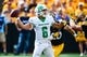 Sep 16, 2017; Iowa City, IA, USA; North Texas Mean Green quarterback Mason Fine (6) throws a pass against the Iowa Hawkeyes during the first quarter at Kinnick Stadium. Mandatory Credit: Jeffrey Becker-USA TODAY Sports