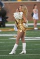 Sep 9, 2017; Columbia, MO, USA; A Missouri Tigers Golden Girl entertains fans before the game against the South Carolina Gamecocks at Faurot Field. Mandatory Credit: Denny Medley-USA TODAY Sports