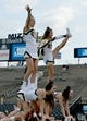 Sep 9, 2017; Columbia, MO, USA; Missouri Tigers cheerleaders practice routines before the game against the South Carolina Gamecocks at Faurot Field. Mandatory Credit: Denny Medley-USA TODAY Sports