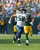Sep 10, 2017; Green Bay, WI, USA; Seattle Seahawks linebacker D.J. Alexander (58) during the game against the Green Bay Packers at Lambeau Field. Mandatory Credit: Jeff Hanisch-USA TODAY Sports
