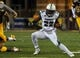 Sep 23, 2017; Laramie, WY, USA; Hawaii Warriors running back Diocemy Saint Juste (22) runs against the Wyoming Cowboys during the second quarter at War Memorial Stadium. Mandatory Credit: Troy Babbitt-USA TODAY Sports