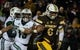 Sep 23, 2017; Laramie, WY, USA; Wyoming Cowboys running back Trey Woods (6) runs against the Hawaii Warriors during the second quarter at War Memorial Stadium. Mandatory Credit: Troy Babbitt-USA TODAY Sports