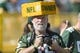 Sep 24, 2017; Green Bay, WI, USA; A Green Bay Packers fan looks on during warmups prior to the game against the Cincinnati Bengals at Lambeau Field. Mandatory Credit: Jeff Hanisch-USA TODAY Sports