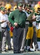 Sep 24, 2017; Green Bay, WI, USA; Green Bay Packers head coach Mike McCarthy during the game against the Cincinnati Bengals at Lambeau Field. Mandatory Credit: Jeff Hanisch-USA TODAY Sports