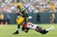Sep 24, 2017; Green Bay, WI, USA; Green Bay Packers running back Ty Montgomery (88) during the game against the Cincinnati Bengals at Lambeau Field. Mandatory Credit: Jeff Hanisch-USA TODAY Sports