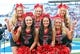 Oct 7, 2017; Lawrence, KS, USA; The Texas Tech Red Raiders cheerleaders pose for a photo in the first half of the game against the Kansas Jayhawks at Memorial Stadium. Mandatory Credit: Jay Biggerstaff-USA TODAY Sports