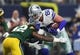 Oct 8, 2017; Arlington, TX, USA; Dallas Cowboys tight end Jason Witten (82) runs with the ball after a reception against Green Bay Packers safety Morgan Burnett (42) in the first quarter at AT&T Stadium. Mandatory Credit: Matthew Emmons-USA TODAY Sports
