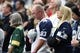 Oct 8, 2017; Arlington, TX, USA; Fans observe a moment of silence prior to the game with the Dallas Cowboys playing against the Green Bay Packers at AT&T Stadium. Mandatory Credit: Matthew Emmons-USA TODAY Sports
