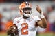 Oct 13, 2017; Syracuse, NY, USA; Clemson Tigers quarterback Kelly Bryant (2) reacts during warm ups prior to the game against the Syracuse Orange at the Carrier Dome. Mandatory Credit: Rich Barnes-USA TODAY Sports