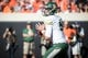 Oct 14, 2017; Stillwater, OK, USA; Baylor Bears quarterback Zach Smith (8) looks to pass against the Oklahoma State Cowboys during the first quarter at Boone Pickens Stadium. Mandatory Credit: Rob Ferguson-USA TODAY Sports