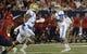 Oct 14, 2017; Tucson, AZ, USA; UCLA Bruins quarterback Josh Rosen (3) looks to pass the ball against the Arizona Wildcats during the first half at Arizona Stadium. Mandatory Credit: Casey Sapio-USA TODAY Sports