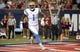 Oct 14, 2017; Tucson, AZ, USA; UCLA Bruins running back Soso Jamabo (1) runs the ball for a touchdown against theh Arizona Wildcats during the first half at Arizona Stadium. Mandatory Credit: Casey Sapio-USA TODAY Sports