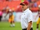 Oct 15, 2017; Landover, MD, USA; Washington Redskins head coach Jay Gruden on the field before the game between the Washington Redskins and the San Francisco 49ers at FedEx Field. Mandatory Credit: Brad Mills-USA TODAY Sports