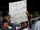 Oct 19, 2017; Oakland, CA, USA; Oakland Raiders fan hold a sign from the stands prior to the game against the Kansas City Chiefs at Oakland Coliseum. Mandatory Credit: Kelley L Cox-USA TODAY Sports